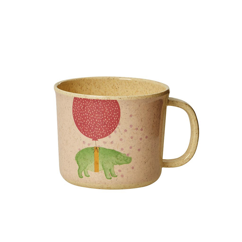 Baby Bamboo Melamine Cup with Girls Animal Print
