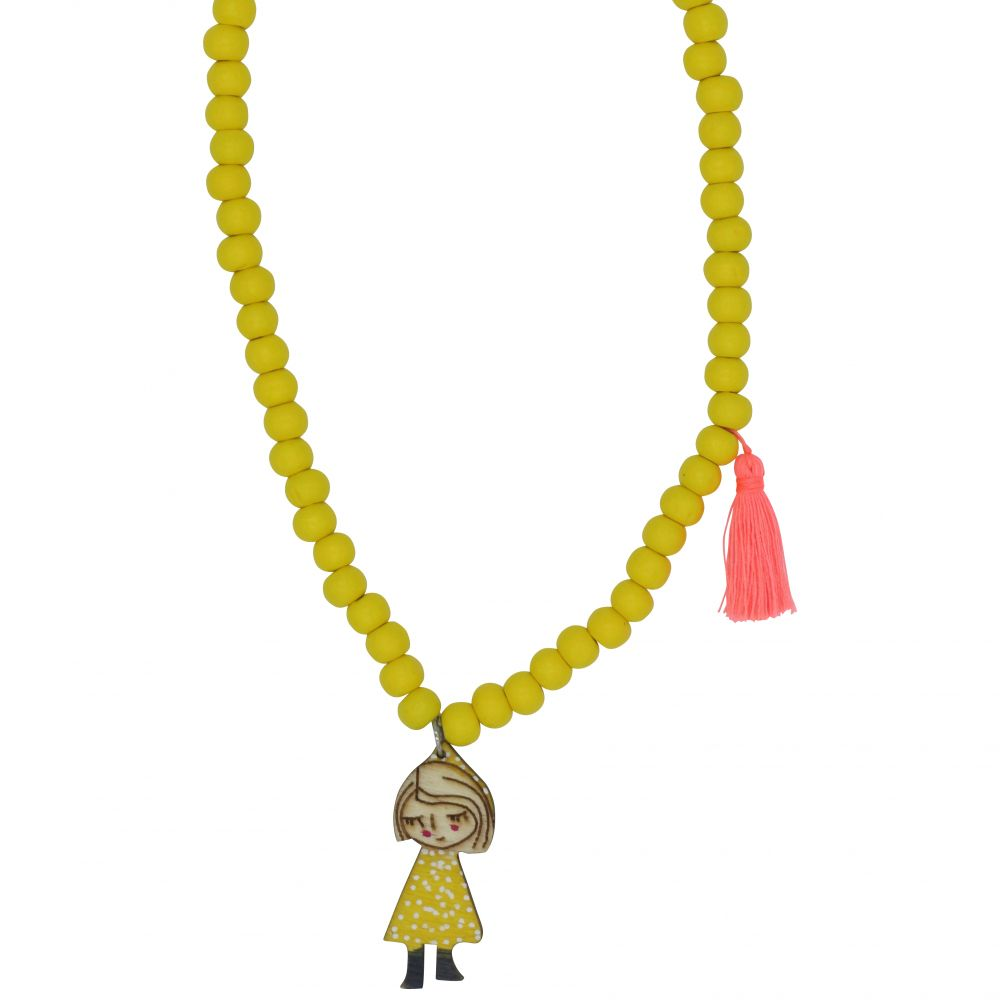 yellow sleeping jane necklace