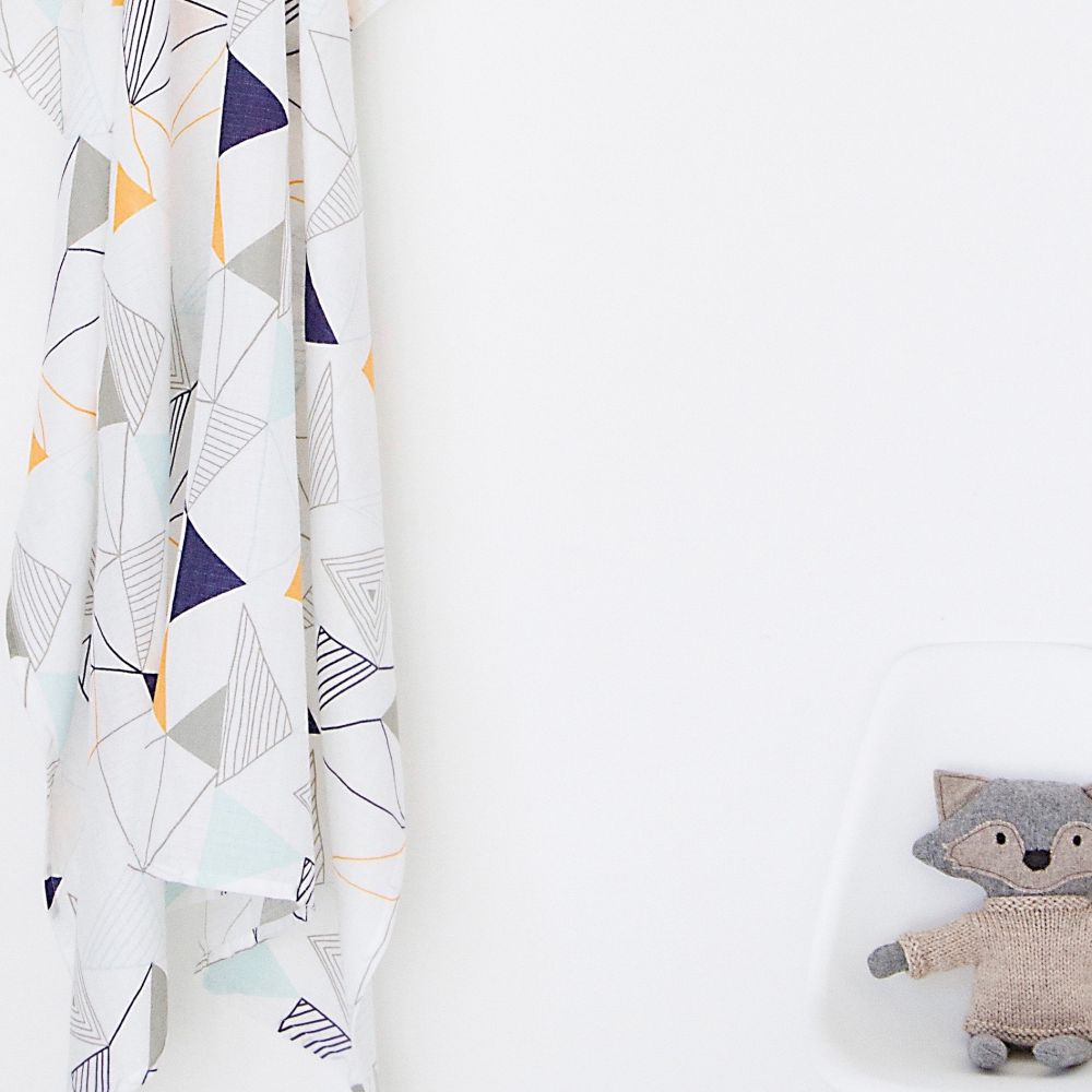 geometric muslin wrap - double pack
