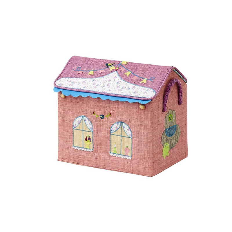 Small Foldable Toy Basket with Princess Castle Theme