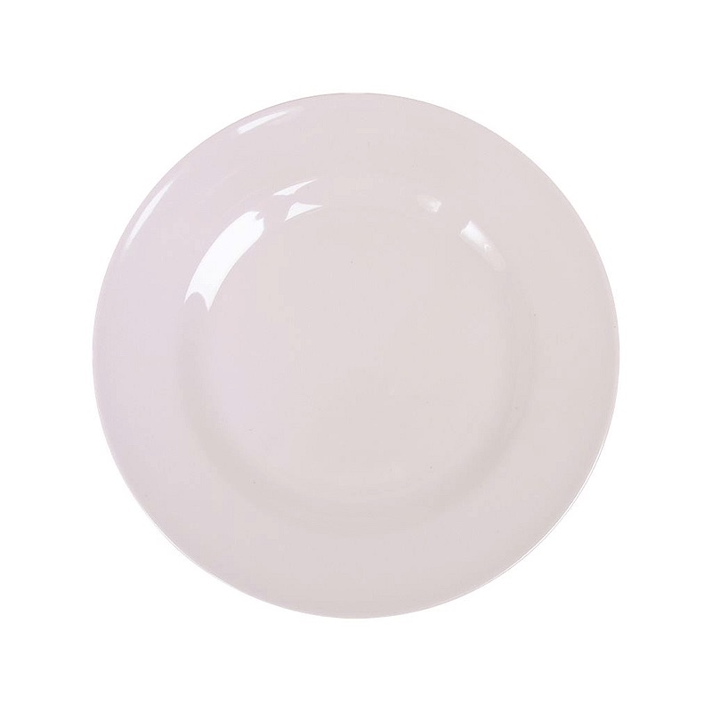 Melamine Round Side Plate in White