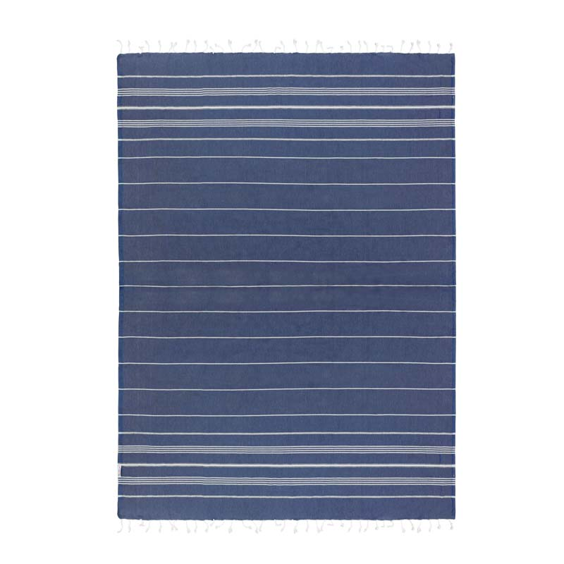 hammamas turkish towel - navy jumbo