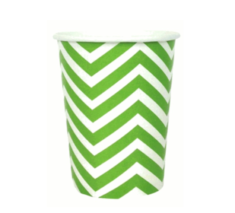 chevron paper cup - apple green