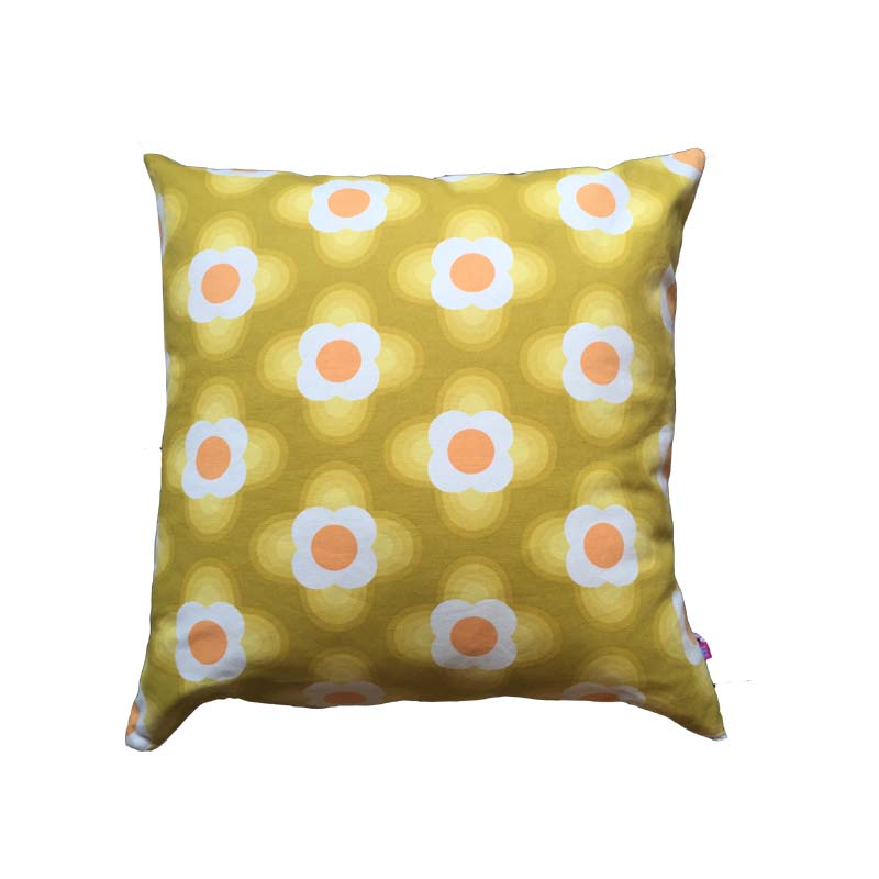 orla kiely cushion - yellow