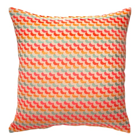 Multi Coloured Patterned Cushion