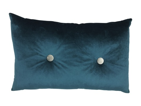 rectangle velvet cushion - emerald