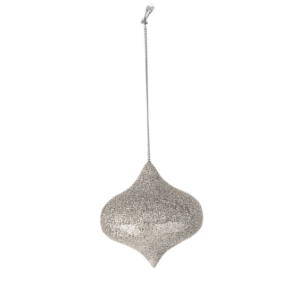 silver hanging ornament