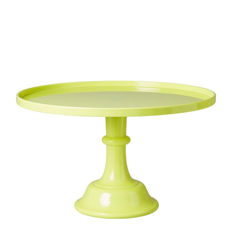 Neon Yellow Melamine Cake Stand with Stem