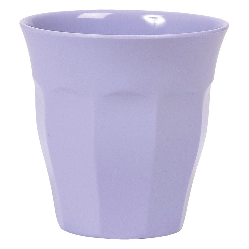 Solid Colored Medium Melamine Cup in Soft Purple