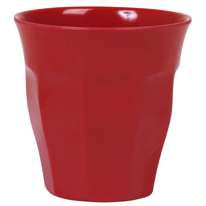 Solid Colored Medium Melamine Cup in Red