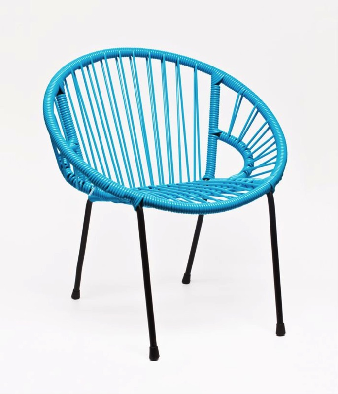 childrens retro chair  blue