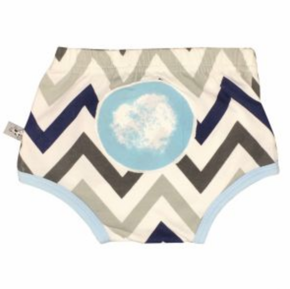 chevron blue nappy cover