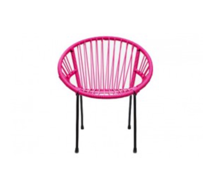childrens retro chair  pink