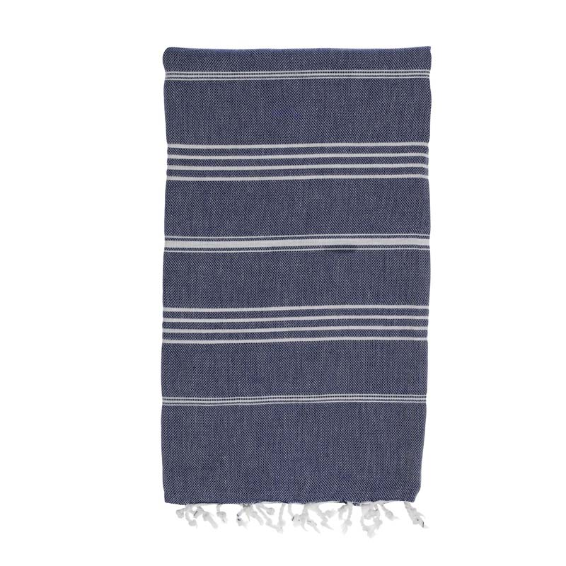 hammamas turkish towel - navy