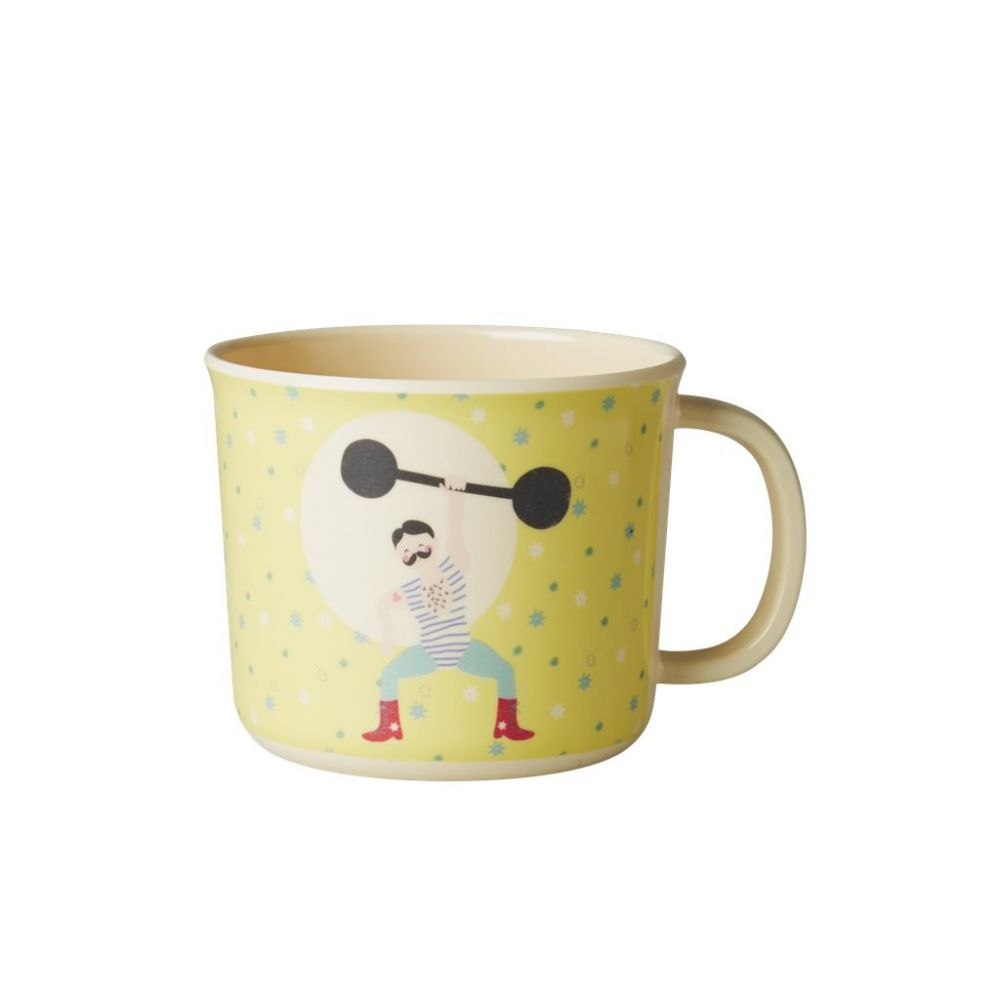 Baby Melamine Cup with Boy Circus Print - Yellow