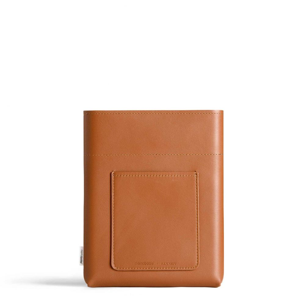 Memobottle A5 leather sleeve tan