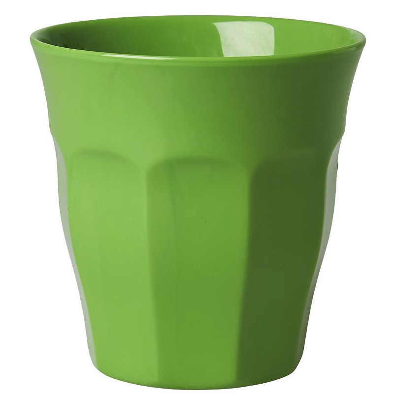 Solid Colored Medium Melamine Cup in Apple Green