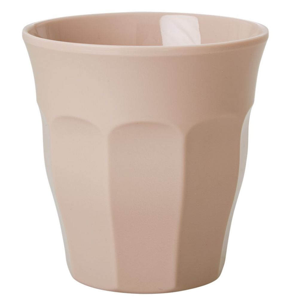Solid Colored Medium Melamine Cup in Elegant Beige