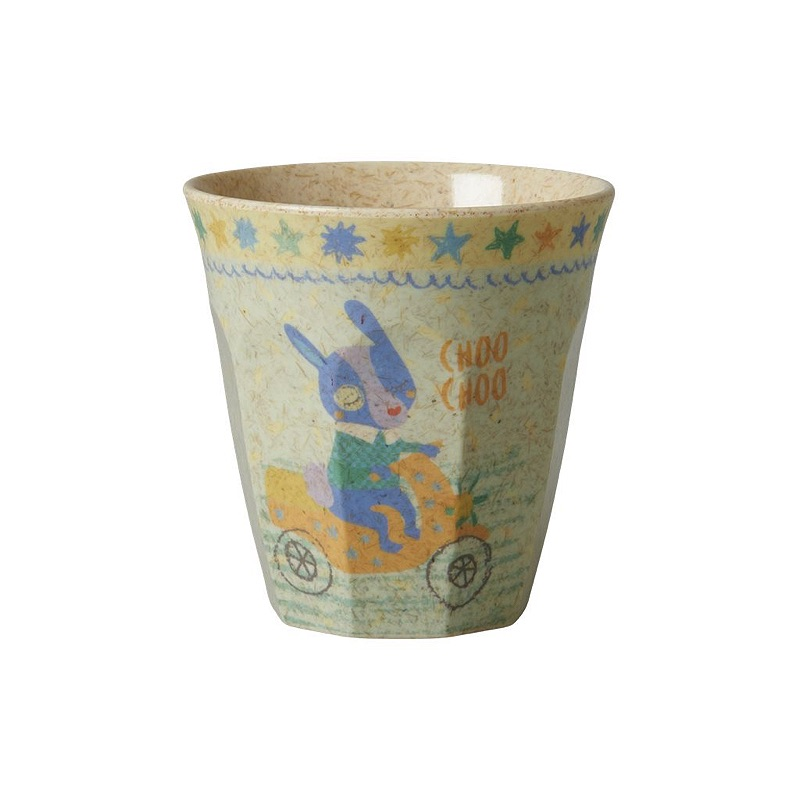 Kids Bamboo Small Melamine Cup with Boys Race Print
