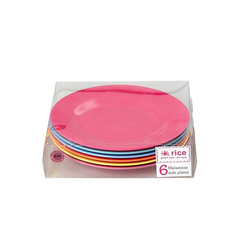 Melamine Round Side Plates in 6 Assorted Go for the Fun Colors