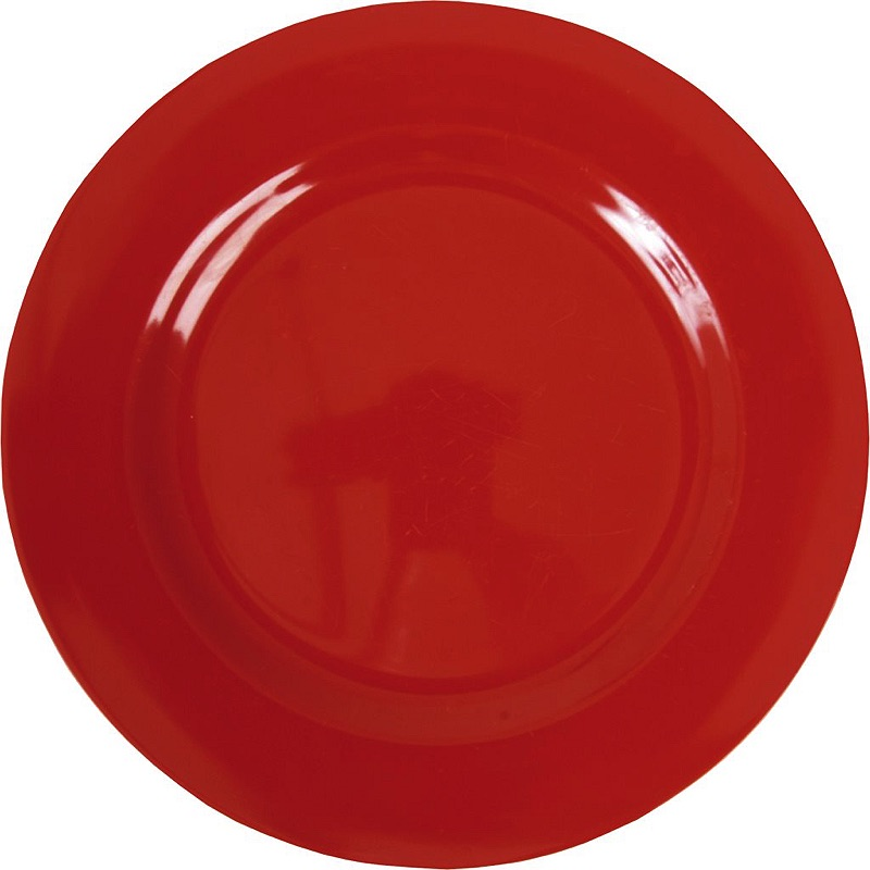 Melamine Round Dinner Plate in Red