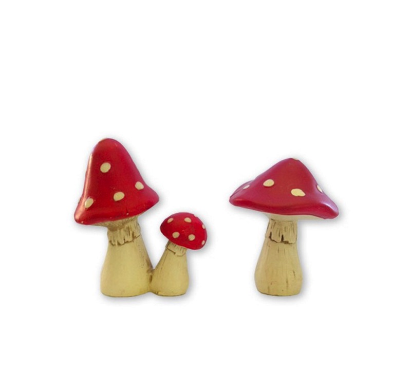 fairy door accessories  ceramic mushrooms