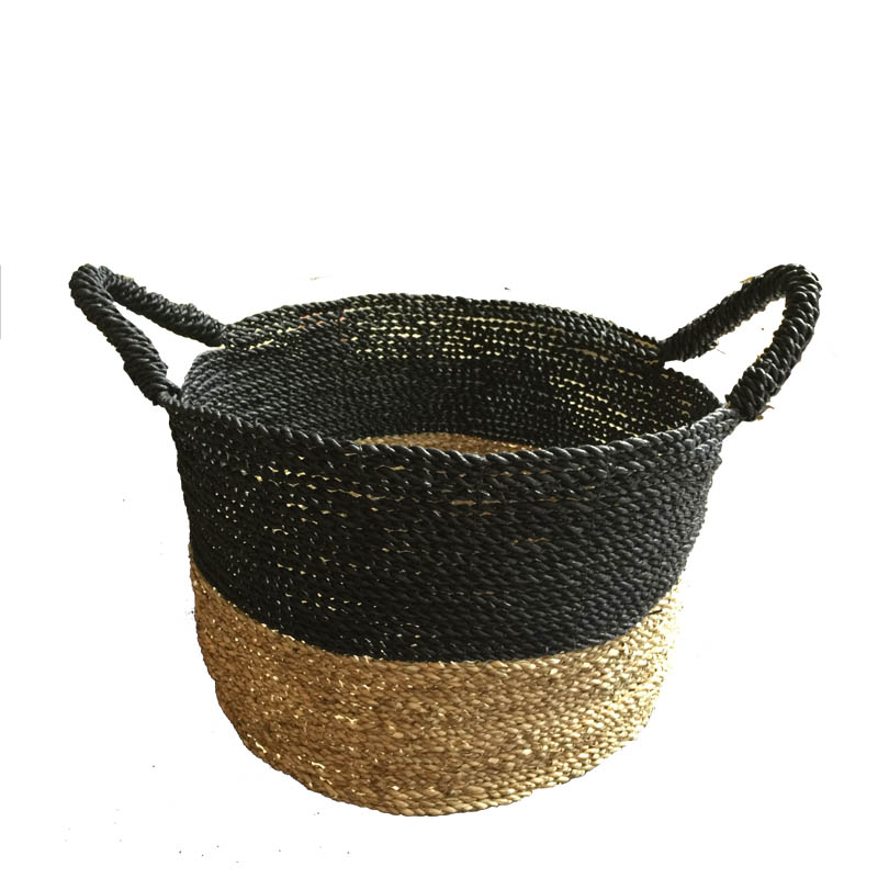 twisted seagrass basket