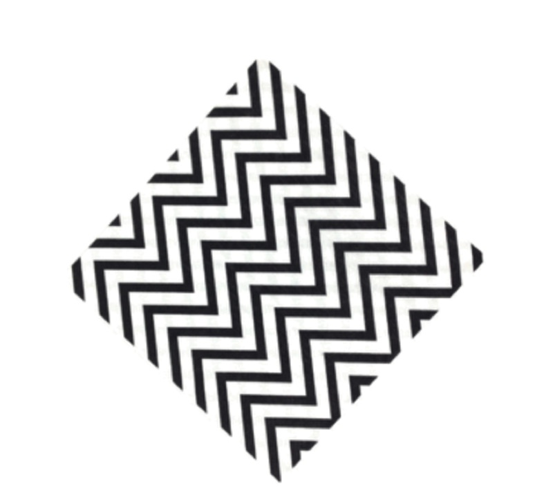 chevron paper napkins - black