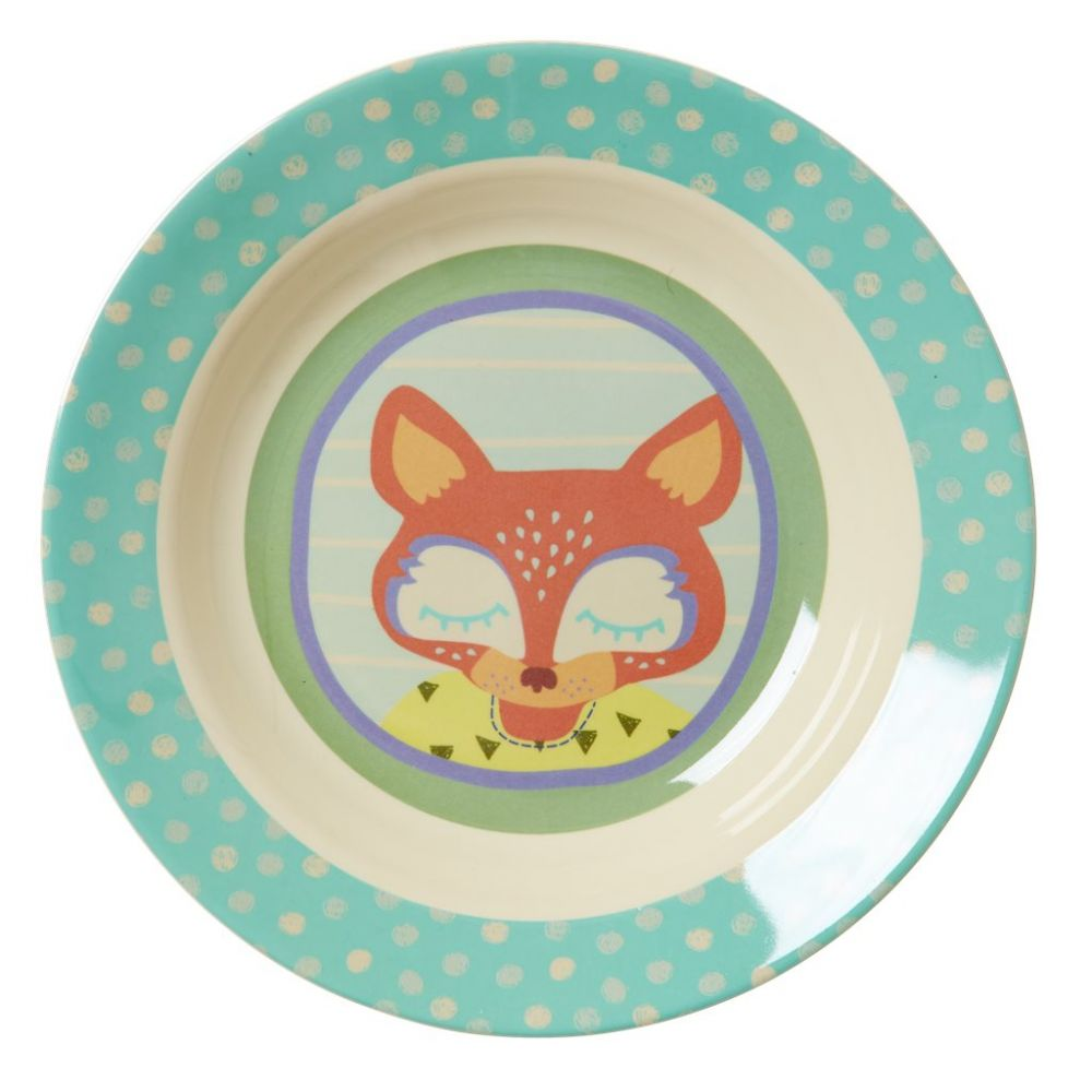 Kids Melamine Bowl with Boys Happy Camper Print