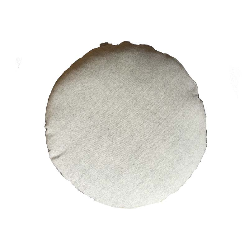 grey round floor cushion