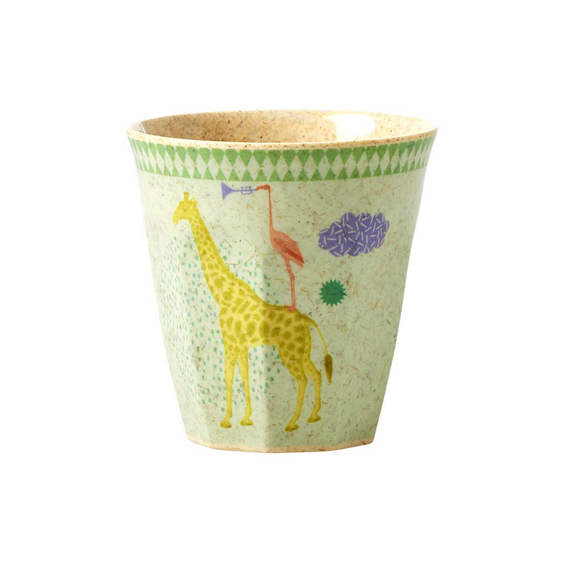 Kids Bamboo Small Melamine Cup with Boys Animal Print