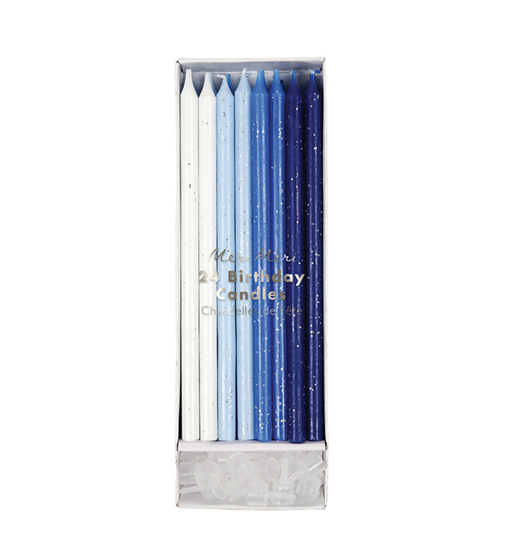 blue long party candle
