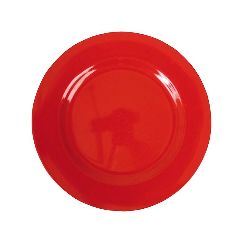 Melamine Round Side Plate in Red