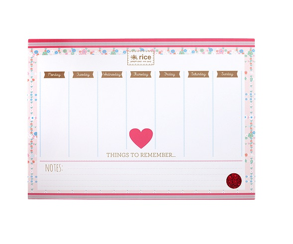 Nice and Practical Desk Planner