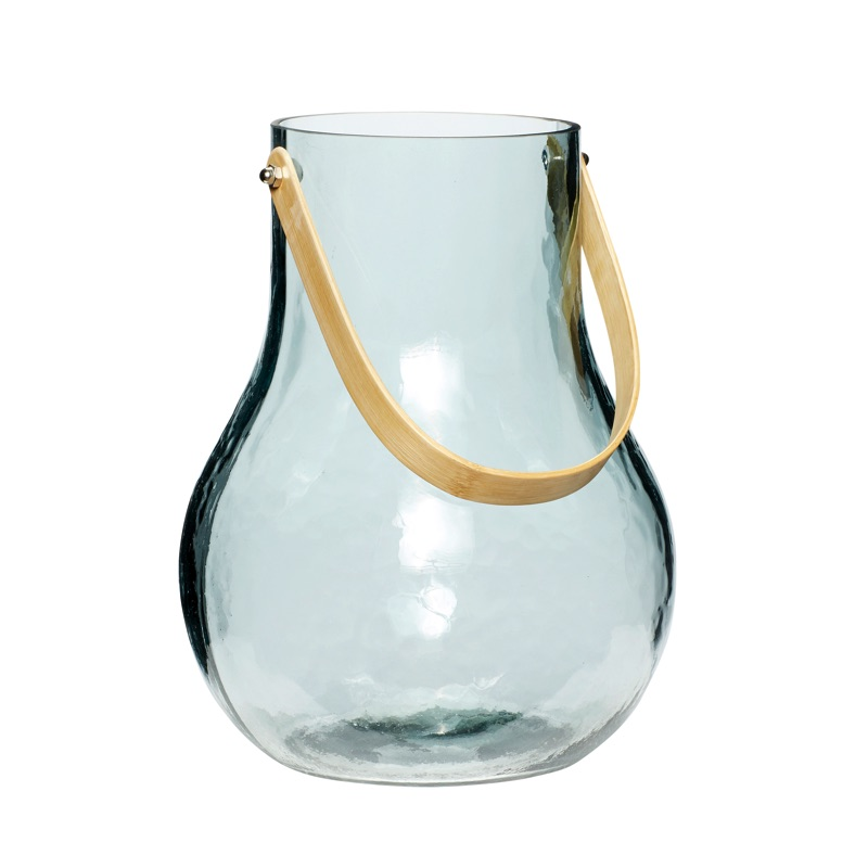 Vase white  bamboo handle