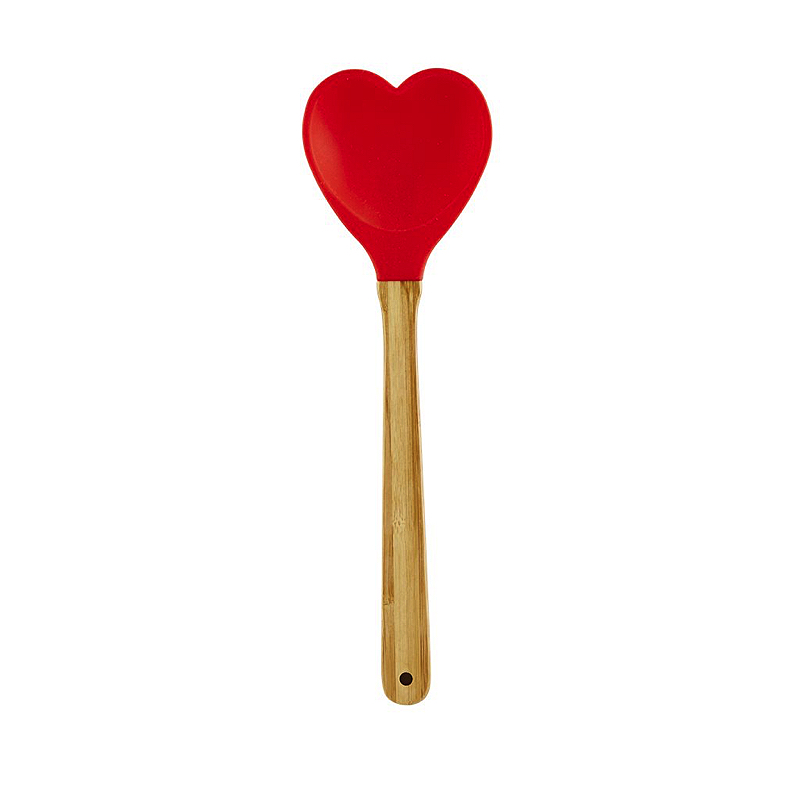 Kitchen Silicone Heartshaped Spoon