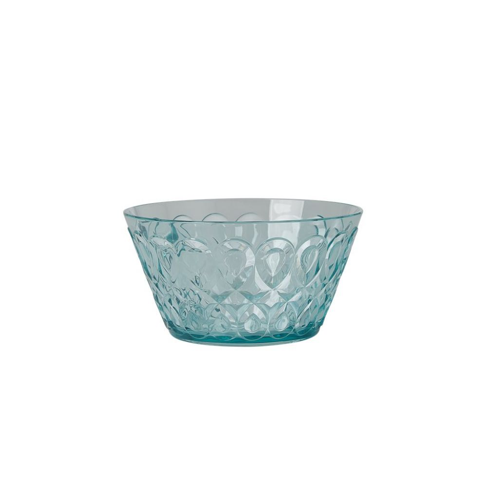 Acrylic Bowl with Swirly Embossed Detail - Mint - Small