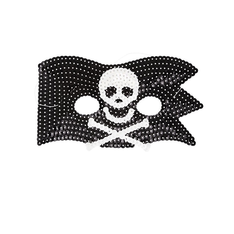 Kids Cool Pirate Sequin Mask