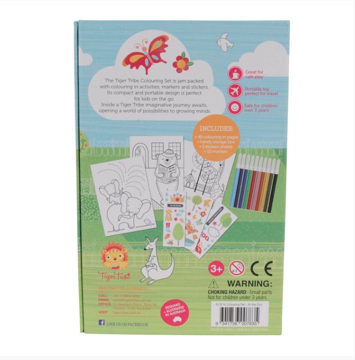 Colouring Set - A Day at the Zoo