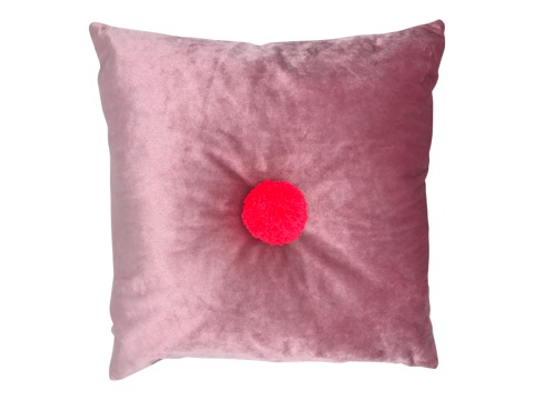 square velvet cushion - blush