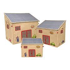 small garage shaped toy house