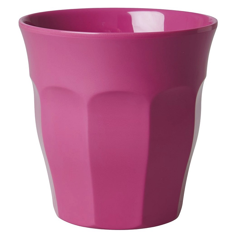 Solid Colored Melamine Cup in Bubblegum Pink