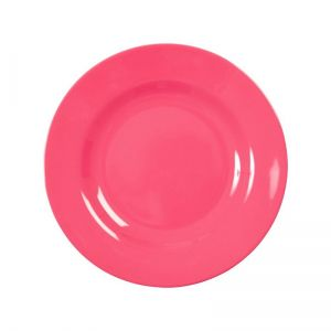 Melamine Round Side Plate in Bubblegum Pink
