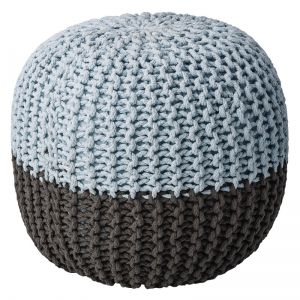 Pouf Grey sky blue