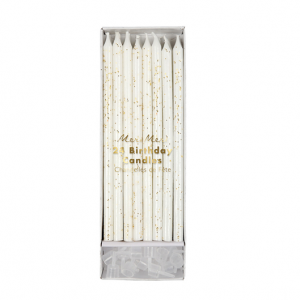 Gold Glitter long candle