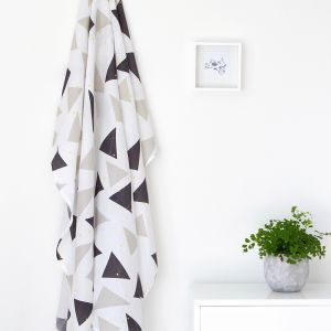 medly of grey muslin wrap - double pack