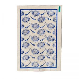 Noodles Tea towel blue