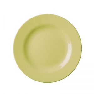 Melamine Round Side Plate in Pastel Yellow
