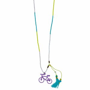 beaded bike necklace