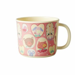 Baby Melamine Cup with Girls Happy Camper Print